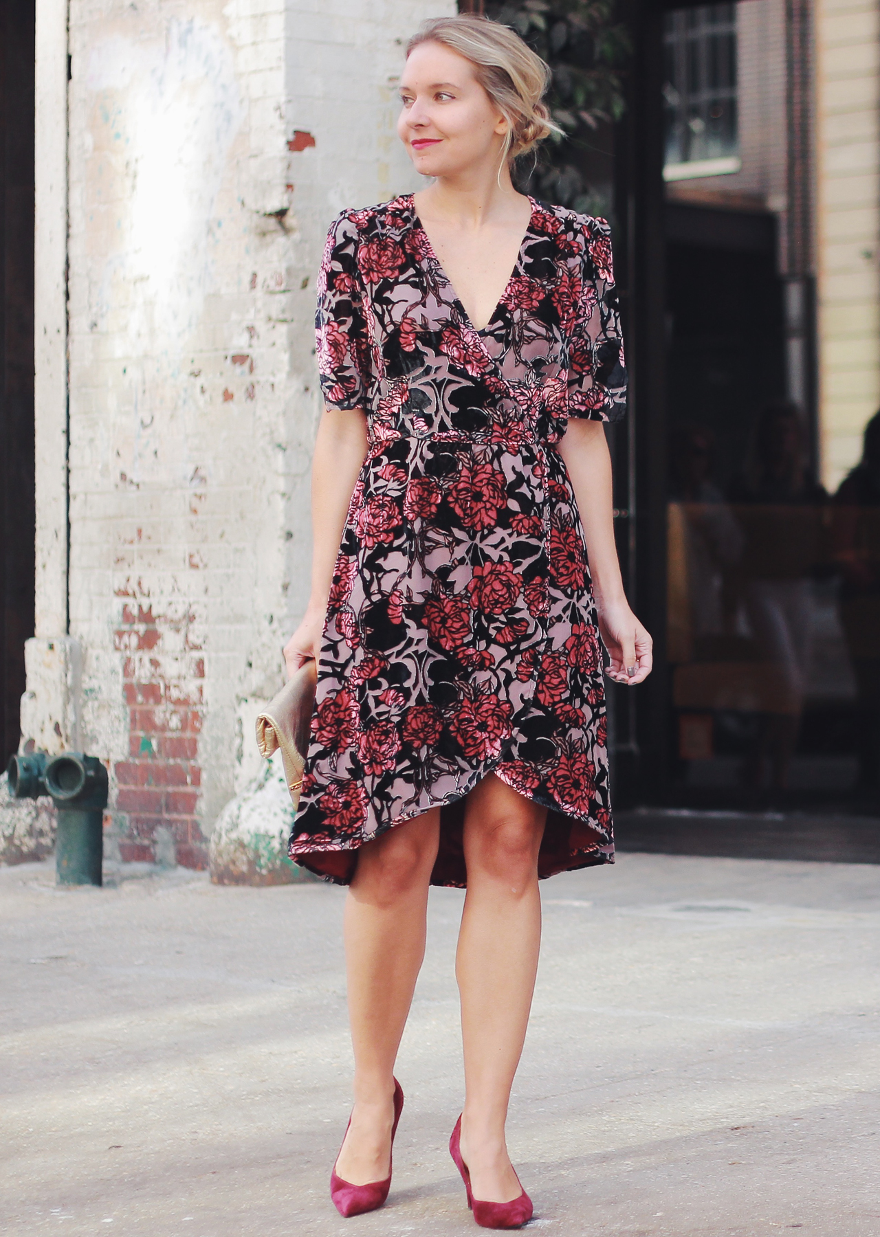 What To Wear For Fall Special Occasions Velvet Floral Dress