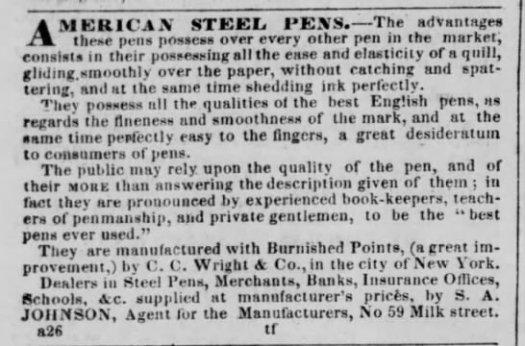 ccwright american steel pens