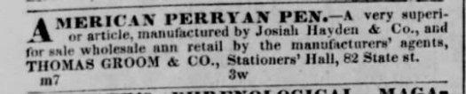1841 Heyden american perryan pen