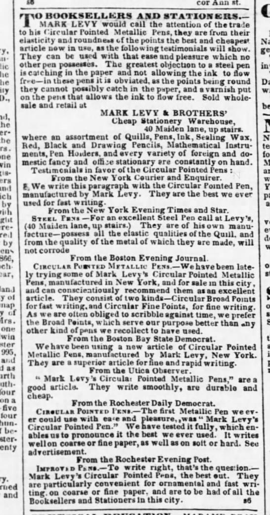1843 mark levy testimonials
