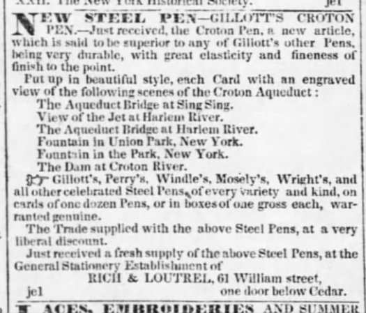 1844 Gillott intro to Croton pen
