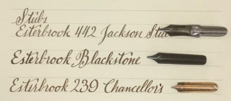Esterbrook #442 Jackson Stub dip pen nib