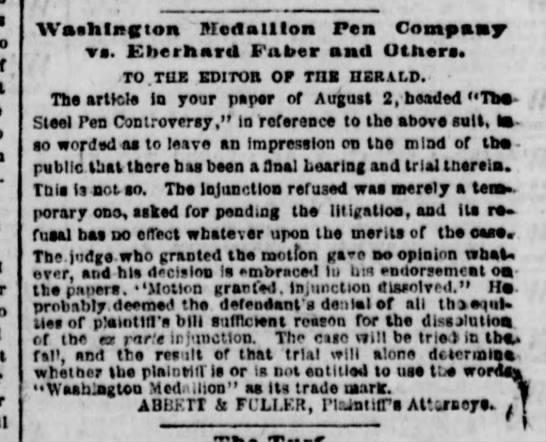 1864 lawsuit plaintiffs
