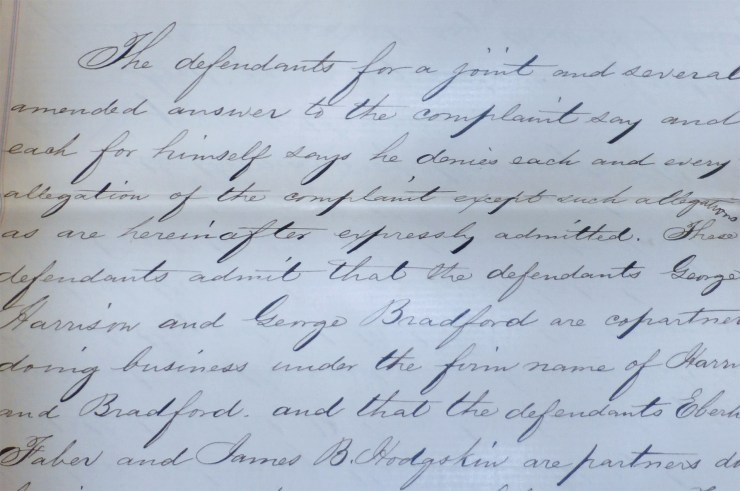 example of defendant's response to the complaint