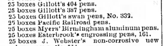 1884 Pacific Railroad Pen ad