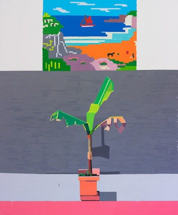 © Guy Yanai, End of Europe (Geographically), 2015, oil on linen, 183 x 152 cm
