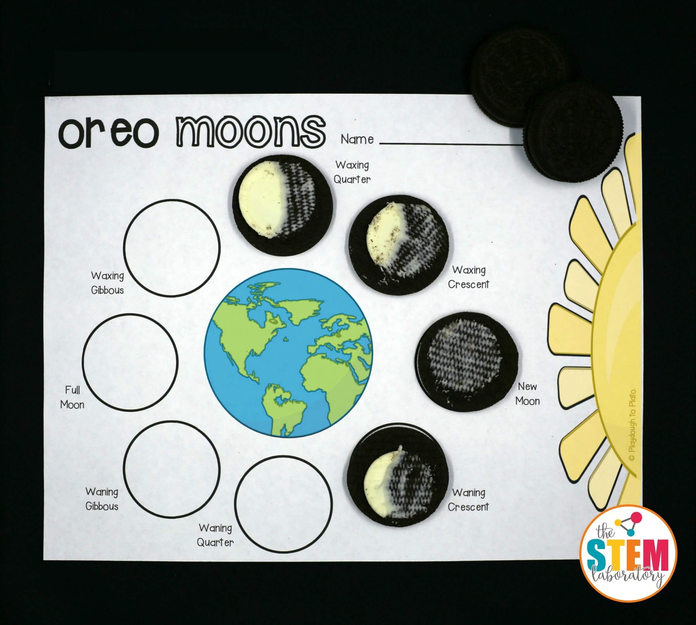 Such A Fun Way To Teach Kids About The Phases Of The Moon Make Oreo Moon Phases