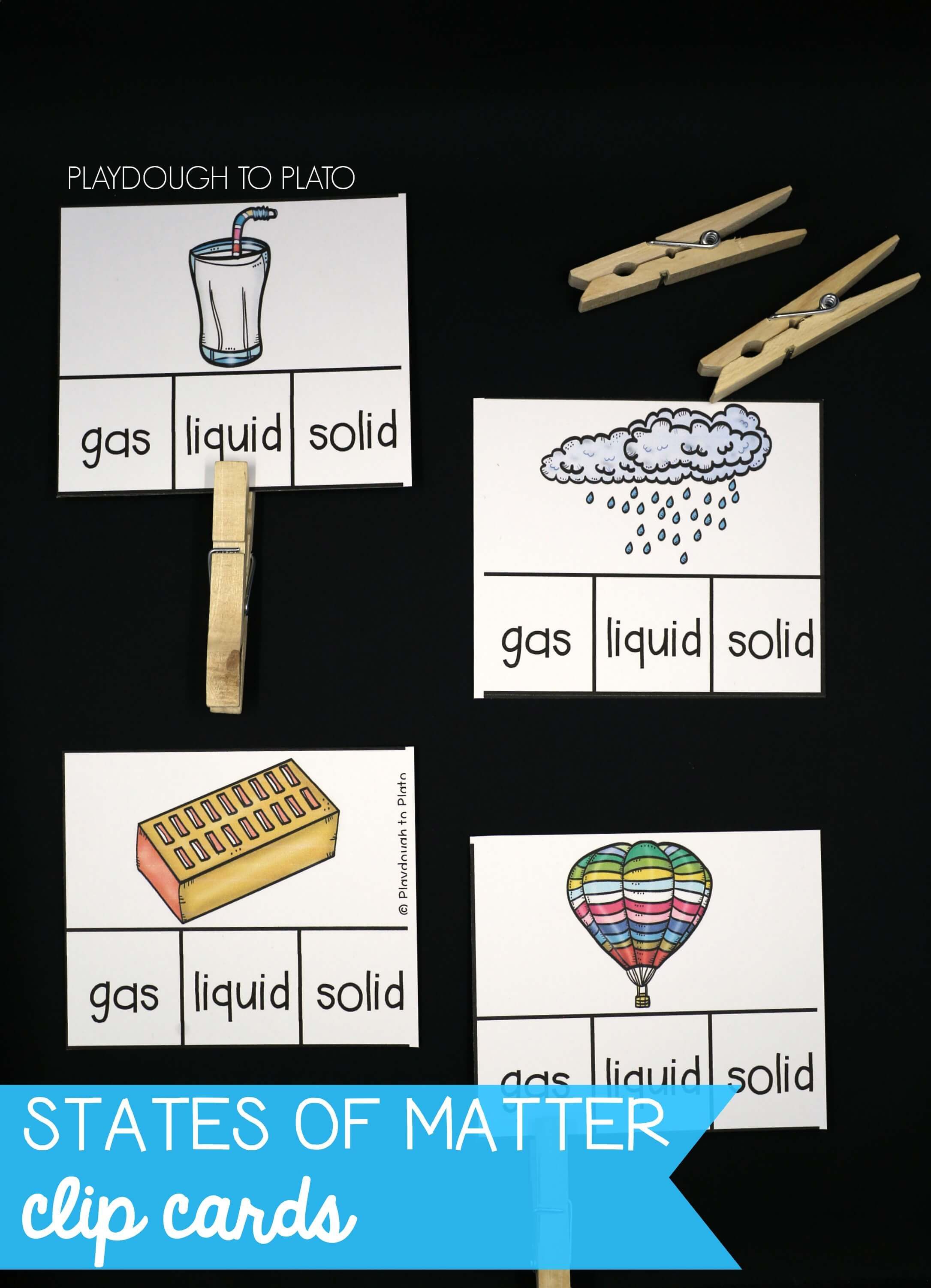 States Of Matter Clip Cards