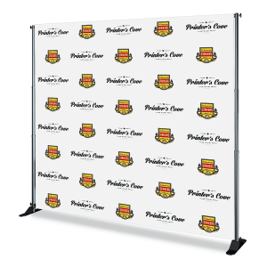 8x8 Step and Repeat Banner in Vinyl produced by The Step and Repeat Banner. We are the #1 Step and Repeat Banner printing company with our prices starting at $299.99 for a Step and Repeat banner with Stand and Carrying Case