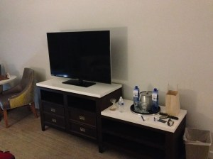 Lakehouse Hotel TV and dresser