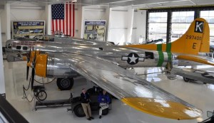 "Lyon Air Museum B-17 ""Fuddy Duddy"" from catwalk"