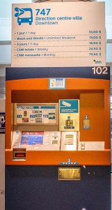 Montreal Airport Bus Ticket Vending Machine