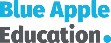 Blue Apple Education - grey version of logo WITHOUT strapline