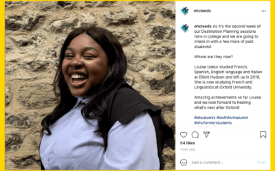 See Why Elliott Hudson's Instagram Is Focusing on Alumni
