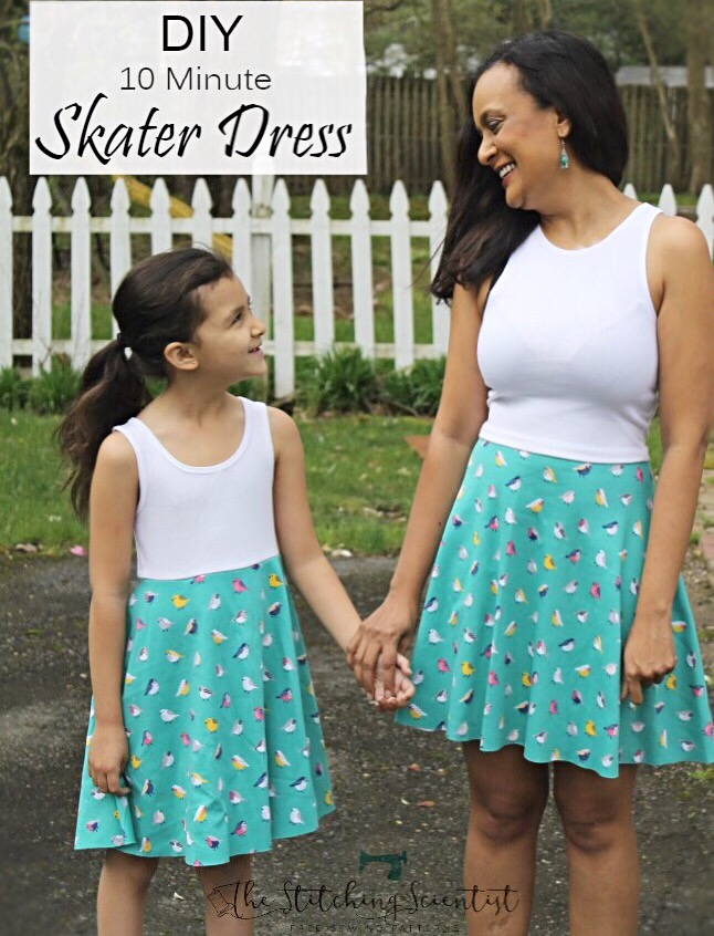 Tutorail: Easy 10 minute skater dress