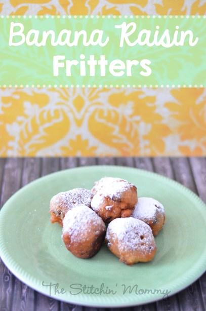 Banana Raisin Fritters www.thestitchinmommy.com