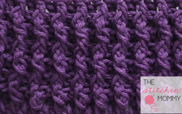 Woven Stitch Tutorial and Afghan Square   www.thestitchinmommy.com #crochet #stitch #tutorial #square #woven #afghan