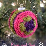 Love and Joy Ornament Cover – Free Crochet Pattern
