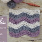 Crochet Ripple Stitch Tutorial and Dishcloth Pattern