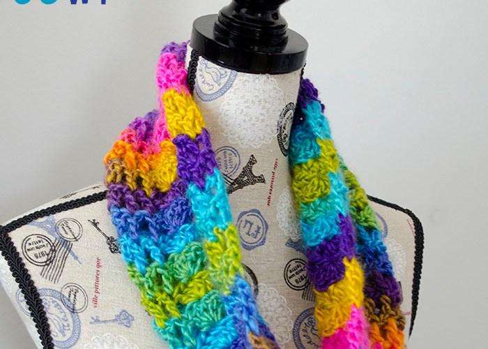 Boardwalk Carnival Cowl – Free Crochet Pattern