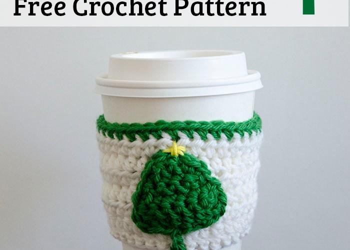 Little Tree Coffee Cup Cozy – Free Crochet Pattern