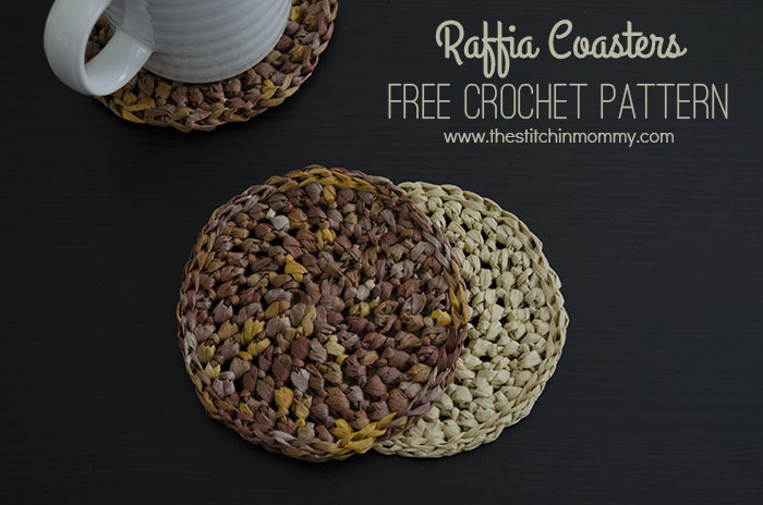 Raffia Coasters - Free Crochet Pattern | www.thestitchinmommy.com