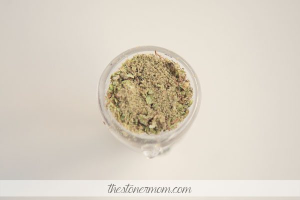 A bowl of weed and kief