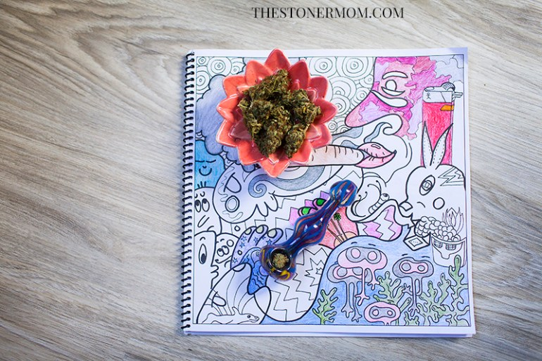 Page from The Stoner's Coloring Book