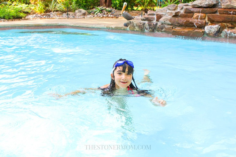 Victoria in the pool