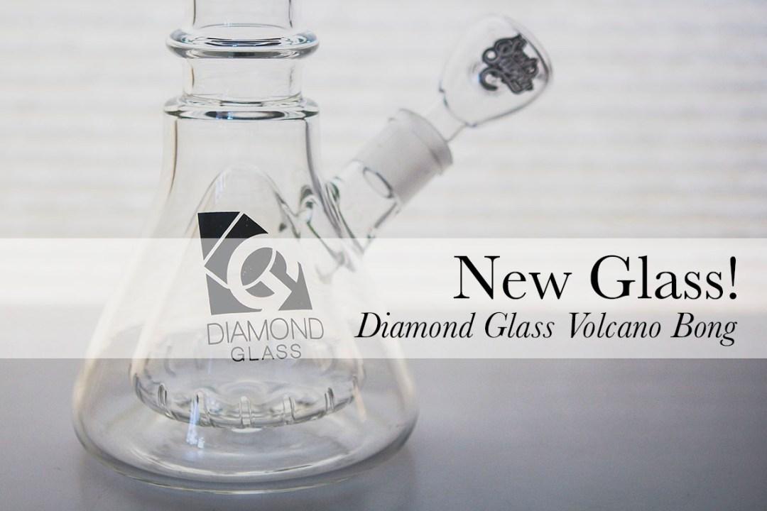 Diamond Glass Volcano Bong