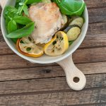 Lemon Basil Roast Chicken
