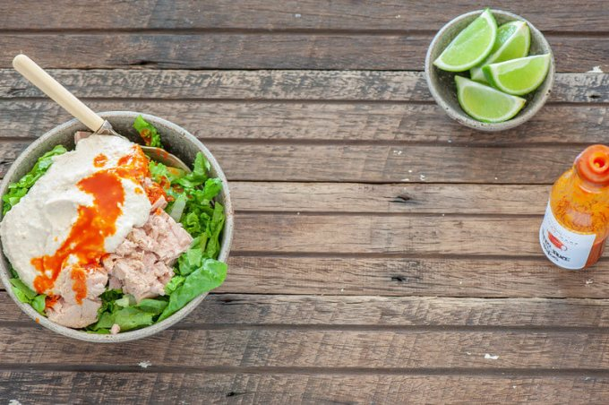 Quick Taco Bowls with Lime Cashew Sour Cream