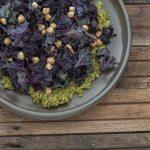 Salted Kale with Green Tahini Recipe