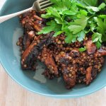 mushrooms lentils