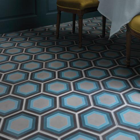 Patisserie Hexagon Encaustic Tiles