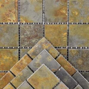 Multicolour Riven Slate Mosaic
