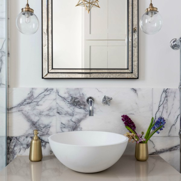 Amethyst Marble Honed Finish bathroom wall tiles
