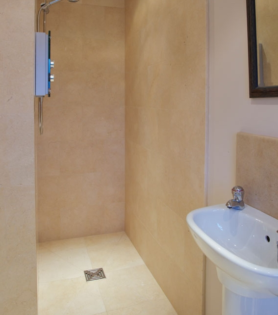 Bergamo Limestone Honed Finish Shower Enclosure