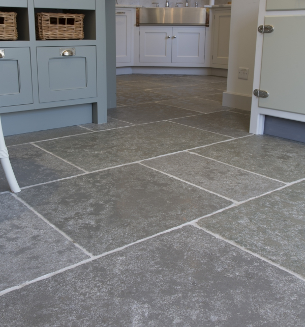 Denham Limestone Seasoned Finish Close Up