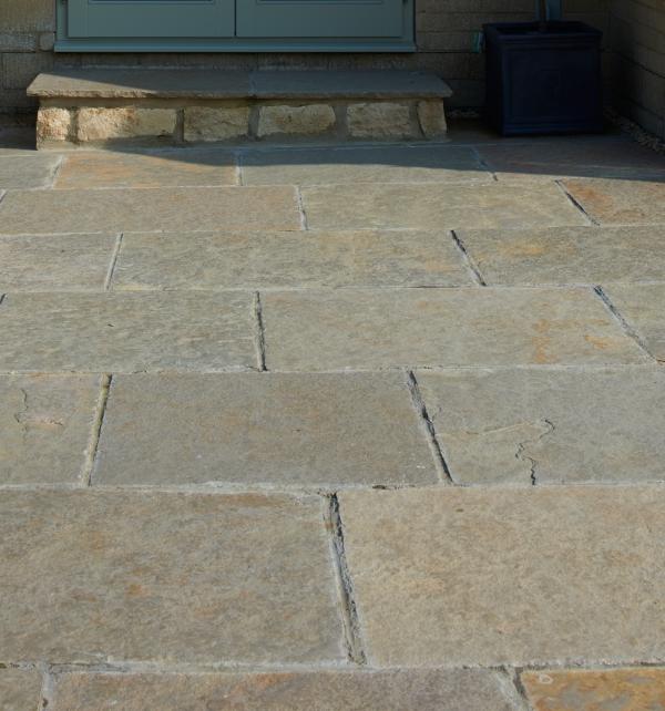 Farley Limestone Worn Finish tiled paving