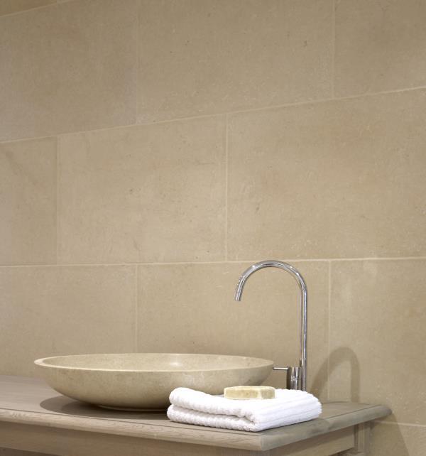 Fontaine Limestone Tumbled Finish Bathroom Wall Tiliing