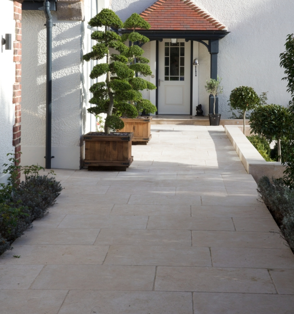 Hamlet Limestone Tumbled & Etched Finish external paving