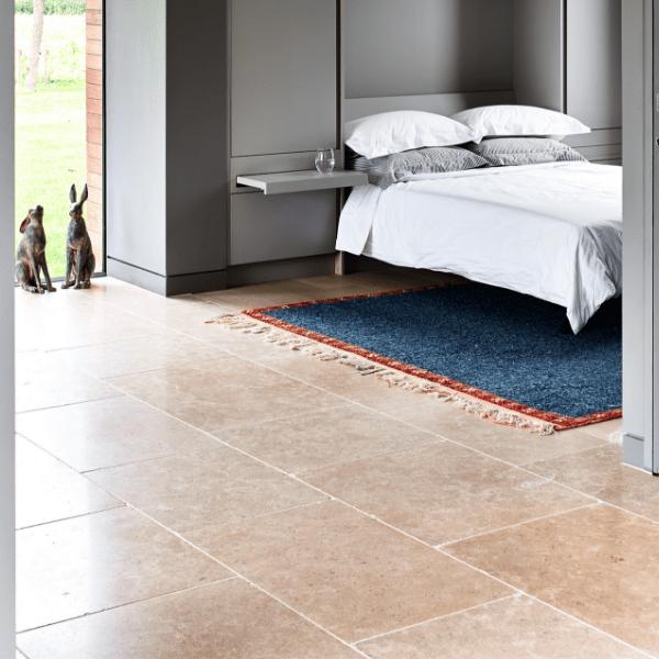 Hamlet Limestone Tumbled Finish Bedroom flooring