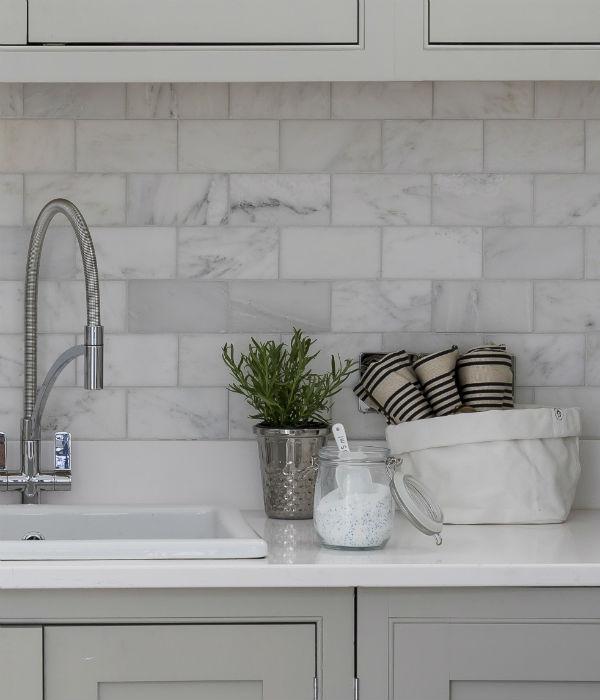 Long Island Marble Honed Metro Clean White Modern Kitchen