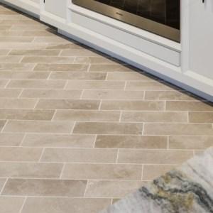 Lucca Limestone Brick Velvet Finish Close Up
