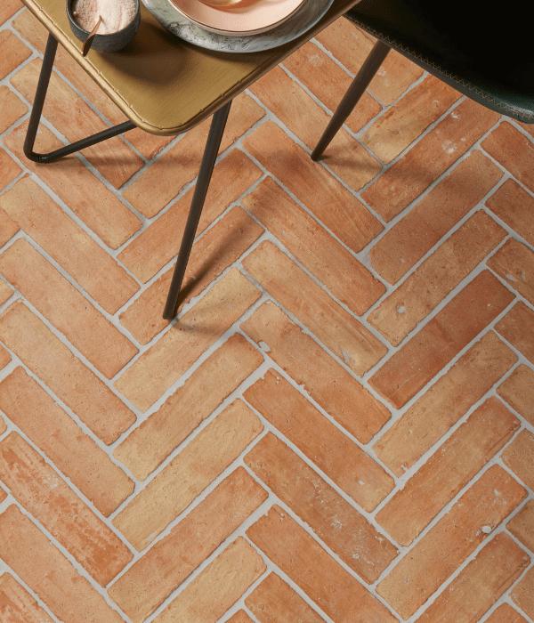 Marlborough Terracotta Parquet on a conservatory floor