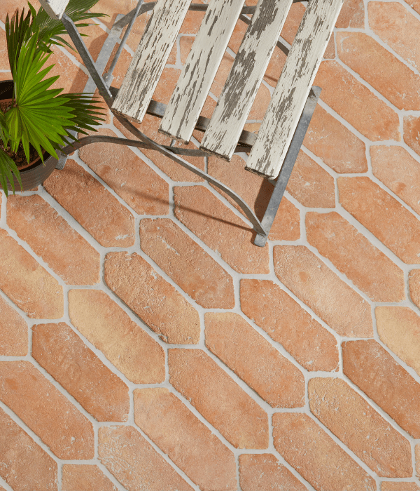 Marlborough Terracotta Picket Tiles in a conservatory