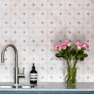 Modella Zelten Multi Porcelain Kitchen Feature Wall