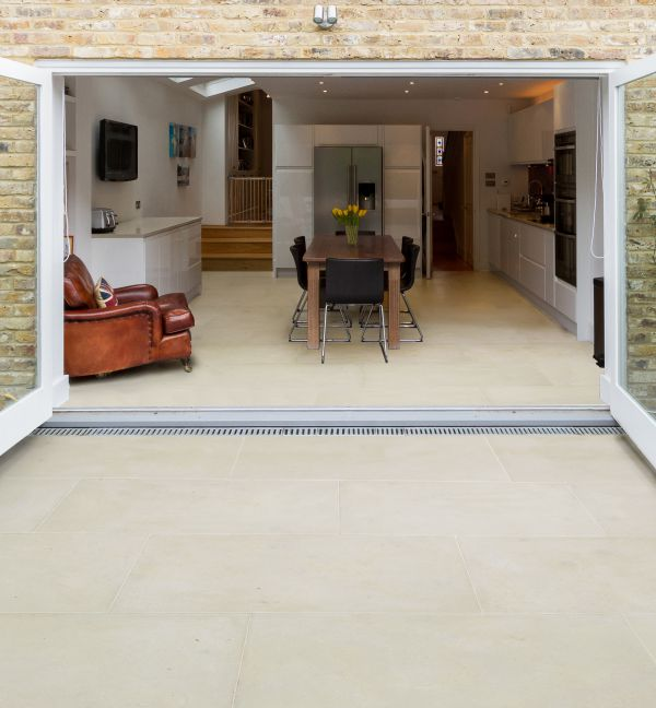 Neranjo Limestone Etched Finish Conservatory and patio
