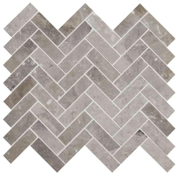 Palladio Marble Herringbone Mosaic Close Up